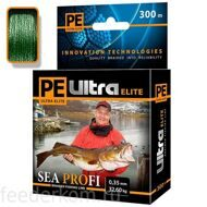 Плетеный шнур PE ULTRA ELITE SEA PROFI Dark Green